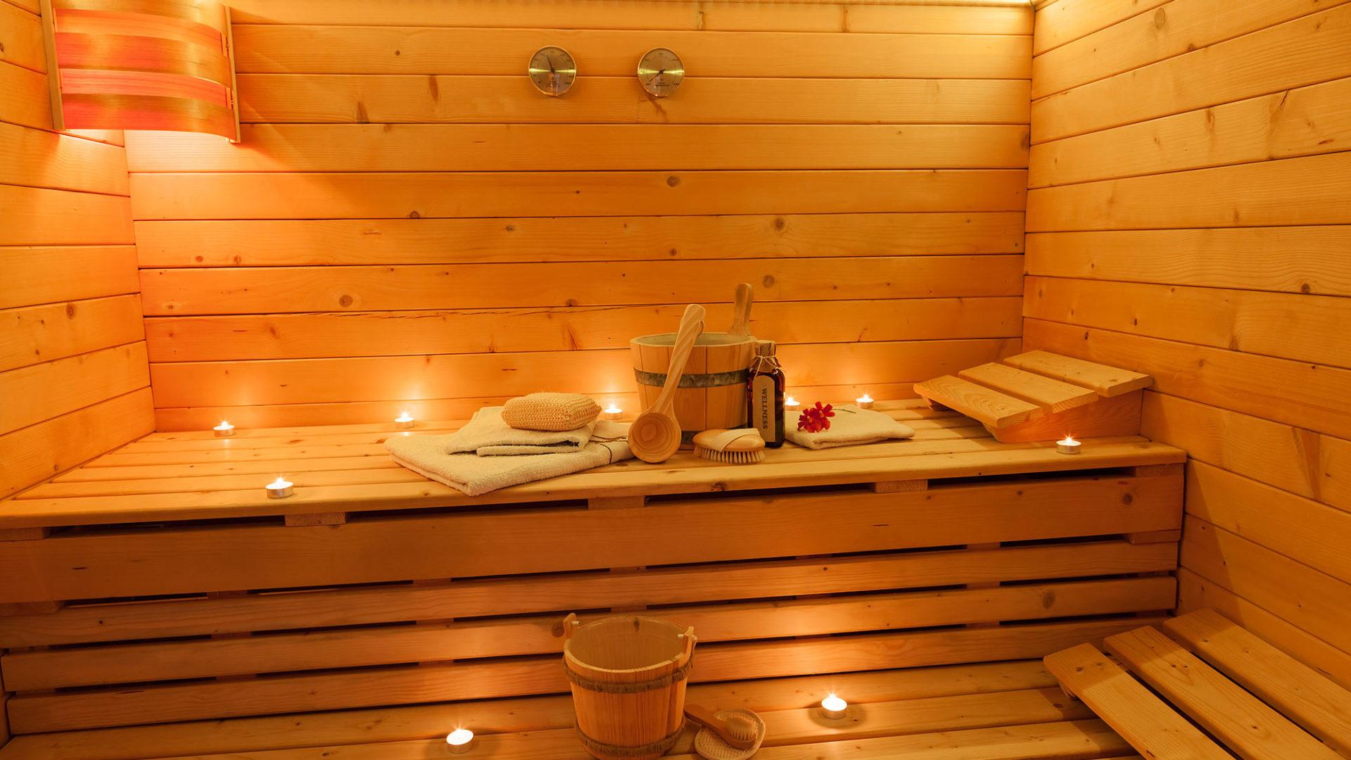 Interior of a finnish Sauna